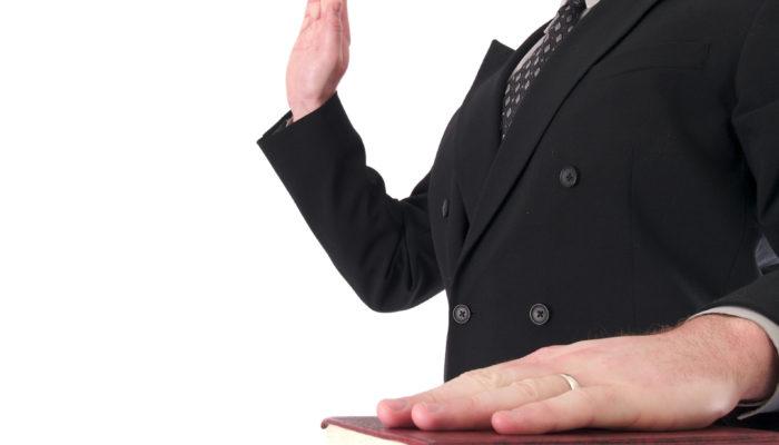 Sworn in President Hale Antico
